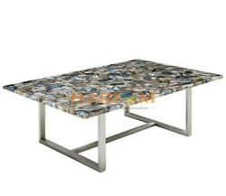 30x50 Wild Agate Stone Handicrafted Top Dining Table Hallway Decorative A089a