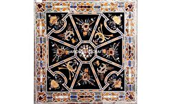 Marble Dining Table Top Instrument Arts Marquetry Inlay Outdoor Rare Decor H5638