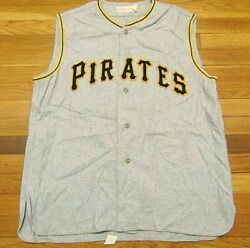 Vtg 80's Rare Mlb Mitchell And Ness Pittsburgh Pirates Roberto Clemente Jersey L