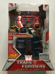 Transformers 20th Anniversary Robots In Disguise Optimus Prime W/ Dvd New Mib