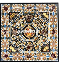 Scagliola Marble Dining Table Top Real Inlay Mosaic Hallway Patio Decorate H4030
