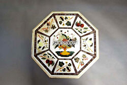 Fruits Rare Marquetry Stone Marble Coffee Table Top Inlaid Patio Art Decor H3973