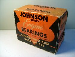 Vintage Nos Johnson Connecting Rod Engine Bearings For Gm / No. Gm130 Mx20sd