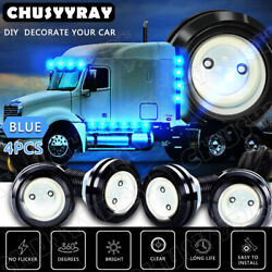 4x Blue Led Rock Light For Jeep Off-road Truck Trail Rig Fender Underbody