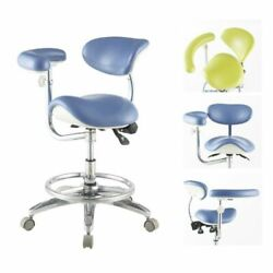 Dental Ergonomic Deluxe Mobile Saddle Chair Saddle Stool Doctor Chair Pu Leather