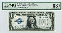 1928 A 1 Silver Certificates Funny Back Consecutive Serial Numbers Pmg 63 64 65