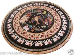 30 Pietradura Marble Coffee Side Table Top And Free Indian White Plate Decorative