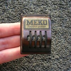 Meko Magnet Dash Counter Germany Porsche 356 Mercedes Vw Bug Bus Beetle Kdf