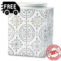 SCENTSY Pressed Tin Warmer Scentsy Warmer Authentic NEW