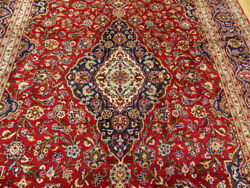 8and0394x12and039 Authentic Excellent Antique Floral Medallion Handmade Wool Oriental Rug