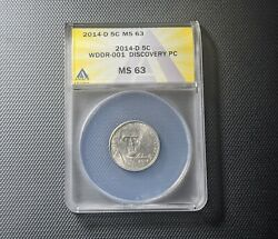 2014-d Wddr-001 Ms 63 Discovery Jefferson Nickel Extremely Rare