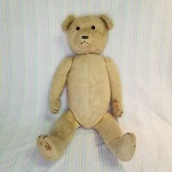 Antique 1900s Steiff Blonde 23 Articulated Jointed Bear Teddy Stuffed Plush