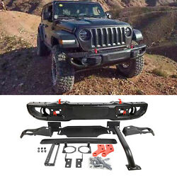 Front Bumper With Hole For 07-18 Jeep Metal Jk Wrangler 10th Anniversary Style