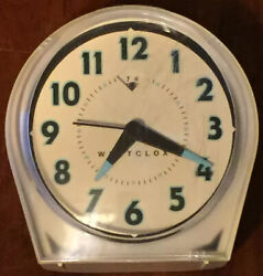 Vintage Westclox Wind Up Alarm Clock Glow In Dark Hands Made In China. Rdy2ship