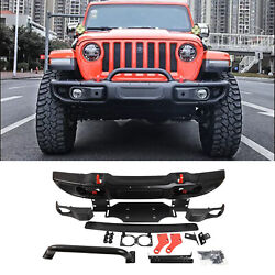 New Front Bumper For Jeep Wrangler Jl 2018-2020 Series 10th Anniversary Style