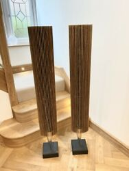 Bang And Olufsen Beolab 8000 Mk1 Speakers Pair | Custom Smoked Oak Cover Frets