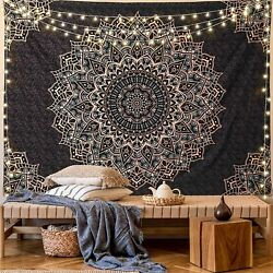 Tapestry Wall Hanging Psychedelic Mandala Hippie Tapestry Blanket Bohemian Decor