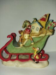 Midwest Of Cannon Falls Christmas Toy Sleigh 5 Figurine Rare Hard To Find