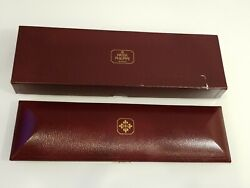 Vintage Patek Philippe Long Coffin Watch Box With Outer Box Rare