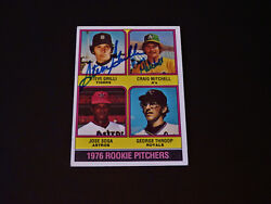 Rookies Craig Mitchell Grilli 1976 Topps #591 Signed Autograph Oakland A#x27;s Auto