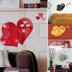 3D Removable Mirror Wall Sticker Love Laugh Butterfly Wall Decals Home Decors US