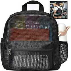 HTLCMMT Semi TRANSPARENT Mesh Backpack Mini See Through SMALL For Commuting Beac $20.80