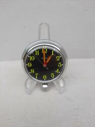Smiths Chrome Magnetic Dashboard Motoring Pocket Watch Working Serviced Sd39