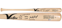 Yordan Alvarez Houston Astros Signed Victus Game Model Bat Inscriptions Ltd Edt