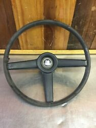 Triumph Tr250 Andbull Original Steering Wheel With Spokes Cover Very Rare Find T2079