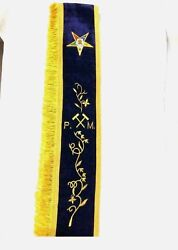 Oes Past Matron Sash With Gavels, Oes Sashes Style B