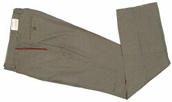 New 189 Orvis Plain Front Wool Check Trousers Pants 34 X 30 Usa Made Cuffs