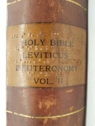 Holy Bible Leviticus Deuteronomy Volume Two Rare-pre-braille Raised Bible 1800