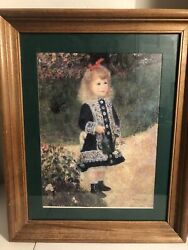 Painting/drawing Of Little Girl In Blue Dress With Fancy Embellishments 16x13andrdquo