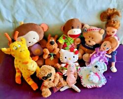 Vintage And New Mixed Lot Of Plush Toys Stuffed Animals Vgc Clean