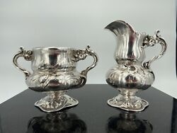 Reed And Barton Martele Type 950 Silver Cream And Sugar Very Rare And Spectacular 272a