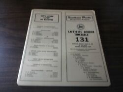 April 1978 Southern Pacific Lafayette Division Employee Timetable 131