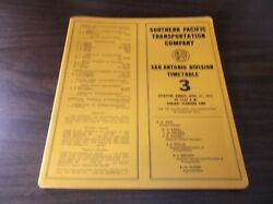 April 1975 Southern Pacific San Antonio Division Employee Timetable 3