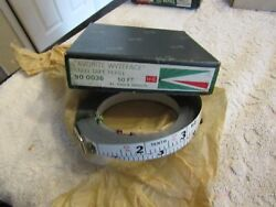 Keuffel And Esser Kande Favorite Wyteface Steel Tape Refill 50and039 10 100ths 900036 Nos