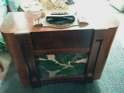 Vintage 1930's Zenith 7s-547 Chairside Radio For Rehab Or Parts