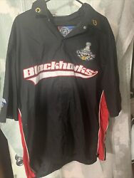 Chicago Blackhawks 2010 Stanley Cup Champions Button Up Shirt Sz 2xl Stitched