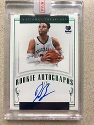 2017 National Treasures Auto Dillon Brooks Rookie Rc 4/5 In Backcourt W/morant