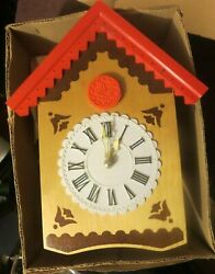 Vintage Russia Russian Cuckoo Clock Yachpom Mark Colorful Wood And Plastic