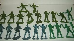 19 Rare Vintage Us American Wwii 6 Plastic Soldier Army Figure Marx Mpc Lot