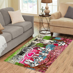 Personalized I Love Cart Dalmatian Dogs Area Rugs Mats