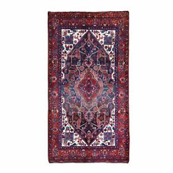 5and0392x9and03910 Vintage Farsian Nehavindish Dog Figurines Wool Handknotted Rug R66047