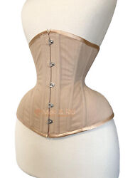 Nude Coutil Conical Rib Tightlacing Waist Training Hourglass Cotton Corset M44