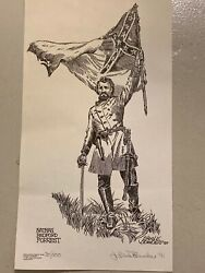 Nathan Bedford Forrest By J. Earle Bowden - Signed And Numbered 20 X 11