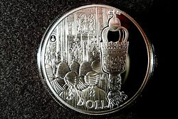 2002 Solomon Isles .925 Silver Proof 5 Crown Coin Royal Mint 22 Ct Gold Finish