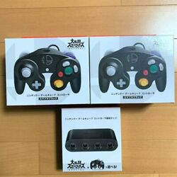 Nintendo Official Gamecube Controller Super Smash Bros 2x And Switch Adapter