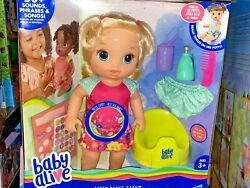 Baby Alive Doll Potty Dance Baby Blonde Hair New Factory Sealed Box Nrfb
